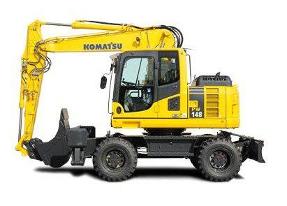 Excavadora de ruedas Komatsu PW98MR-8